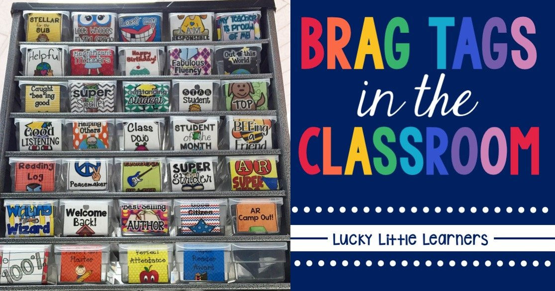 Classroom Business Ideas ~ Brag tags lucky little learners
