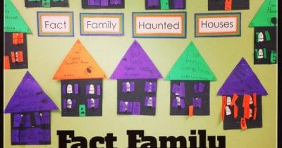Ghost Spelling and Fact Family Haunted Houses