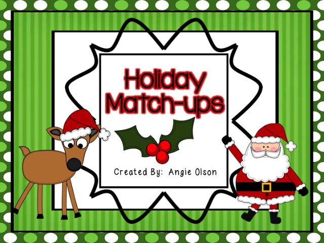 http://www.teacherspayteachers.com/Product/Holiday-Match-ups-944841