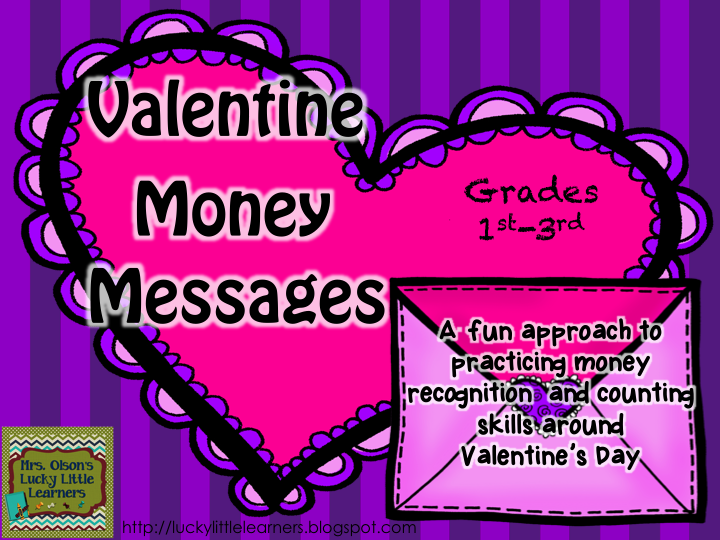 http://www.teacherspayteachers.com/Product/Valentine-Money-Messages-1034321