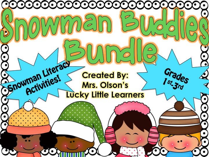 http://www.teacherspayteachers.com/Product/Snowman-Buddies-Literacy-Bundle-1070621
