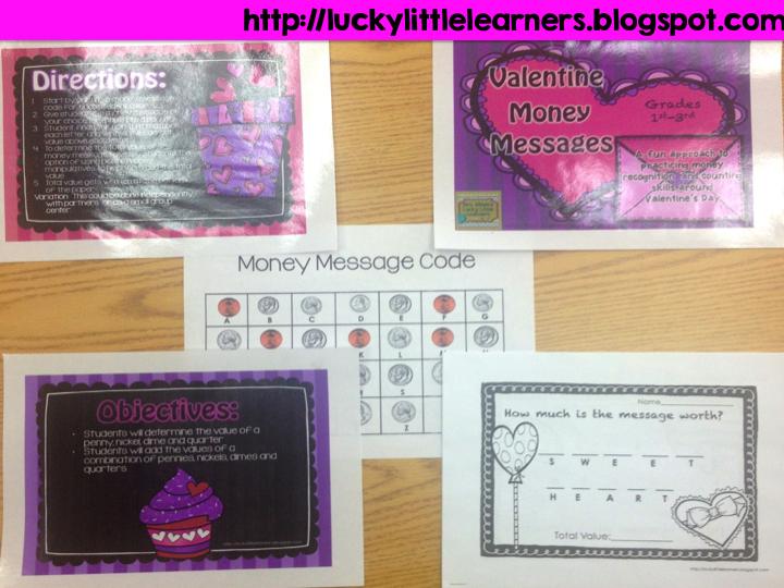 http://www.teacherspayteachers.com/Product/Valentine-Money-Messages-1034321