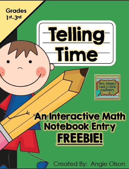 http://www.teacherspayteachers.com/Product/Telling-Time-Interactive-Math-Notebook-FREEBIE-1126321