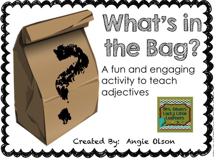 http://www.teacherspayteachers.com/Product/Adjective-Mystery-Bags-1097714