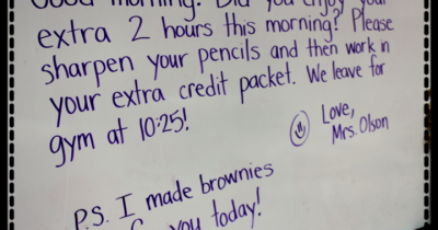 """Brownies"" from your Teacher!"