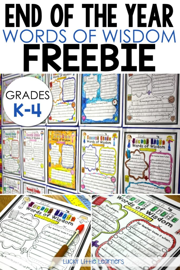The end of the school year is crazy busy!  This writing activity is a fun way to reflect on the year, keep your students writing and engaged, and have content for next fall's bulletin board all ready to go!  Perfect for kindergarten through fourth grade!