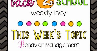 Back 2 School-Behavior Management