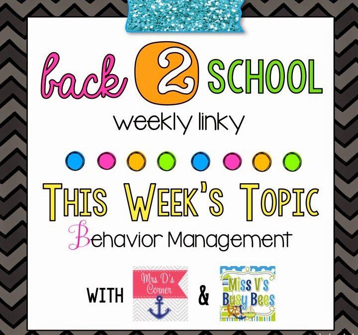 Back 2 School-Behavior Management