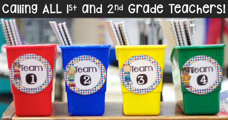 Calling all 1st and 2nd Grade Teachers!