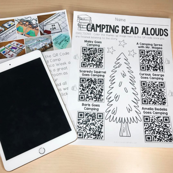 QR Code Camping Read Alouds