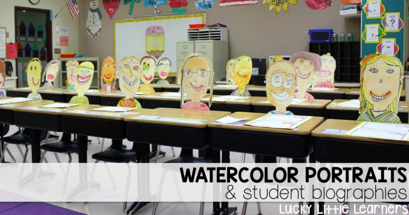Watercolor portraits and student biographies