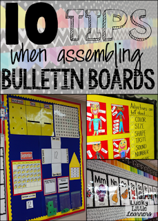 10 Tips when assembling bulletin boards! Check out this blog post that is filled with photos and ideas for making bulletin boards in your classroom!