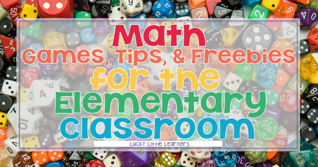 Math games, tips, and freebies for your 1st and 2nd grade classroom.