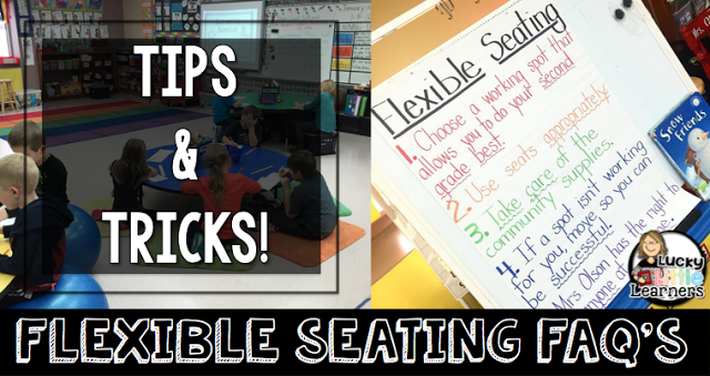 Flexible Seating made easy in the classroom. This post is filled with the most FAQ's and answers. It also comes with links to where she gets all of her flexible seating options! A must read for any teacher that is thinking about doing flexible seating in their classroom!