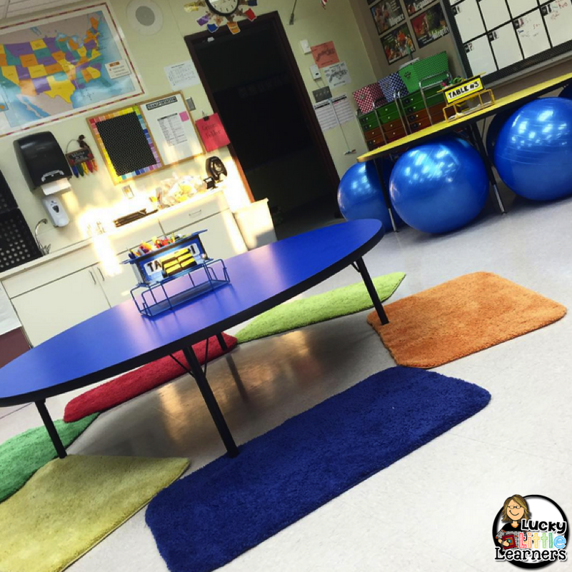 flexible seating lucky little learners