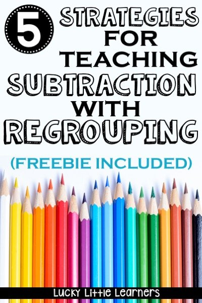 Subtraction with regrouping can be a tricky concept for students.  This post gives 5 practical strategies for 2nd graders to learn to master their subtraction with regrouping math facts.