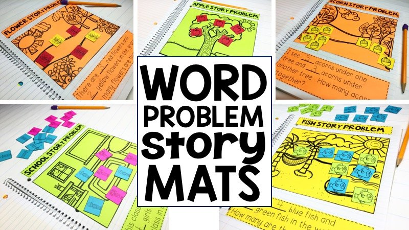Word Problem Story Mats are great for teaching students how to solve story problems in an engaging and developmentally appropriate way!