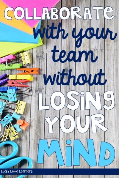 Collaborating with your team doesn't have to come with a feeling of frustration as if you are losing your mind. With the right structure and consistency, your grade level team meetings can run smoothly and efficiently.