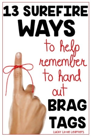 As a teacher, forgetting to hand out the brag tags can be a common problem. This teacher has found some practical and easy ways to help teachers to remember to hand out the brag tags during the school day. #bragtags #classroommanagement #rewardsforkids #classroomorganization