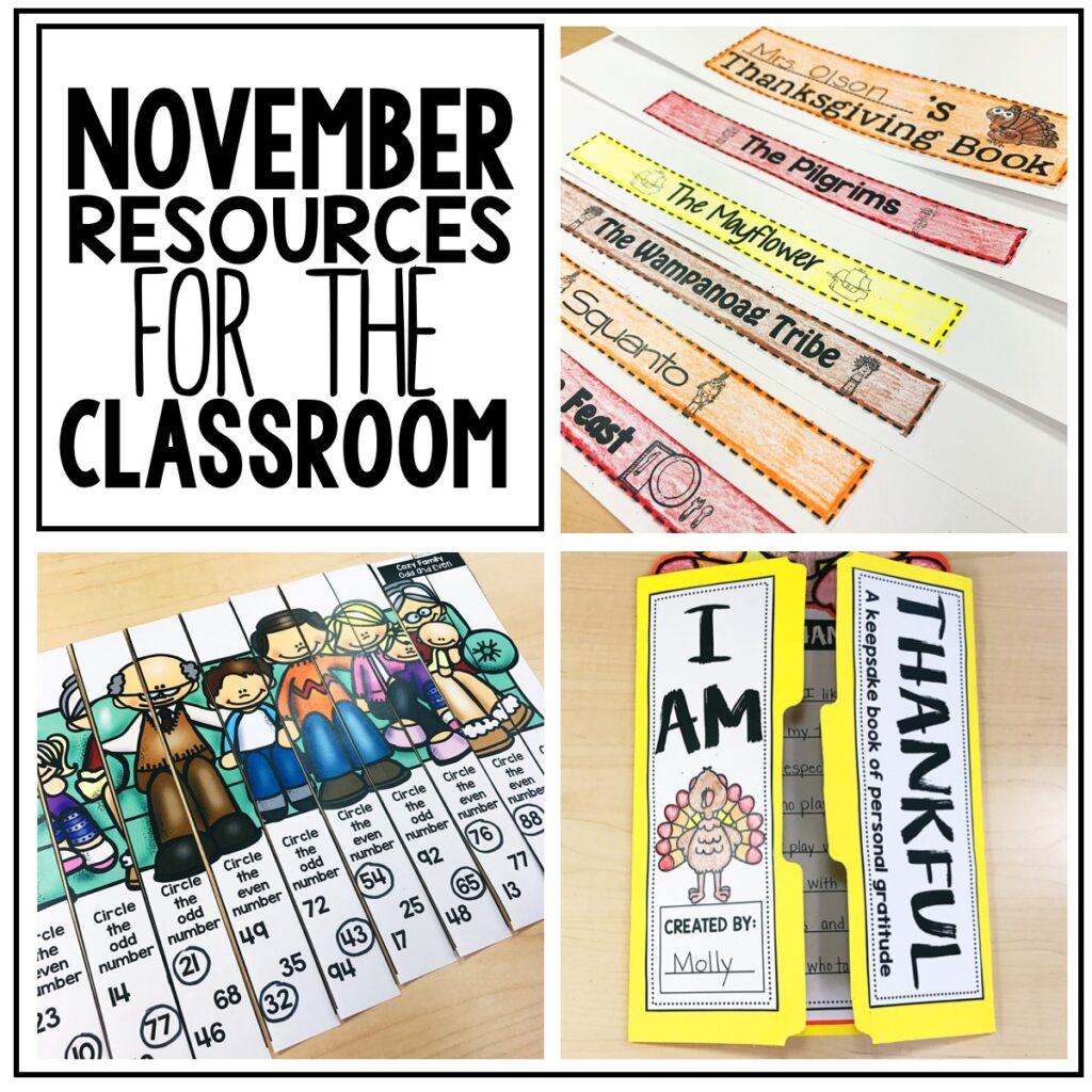 November Resources for the Classroom