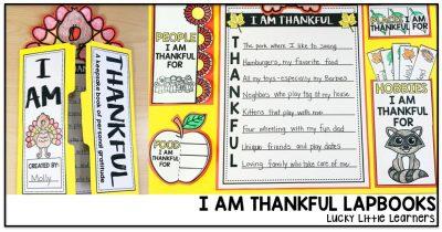 I Am Thankful Lapbook