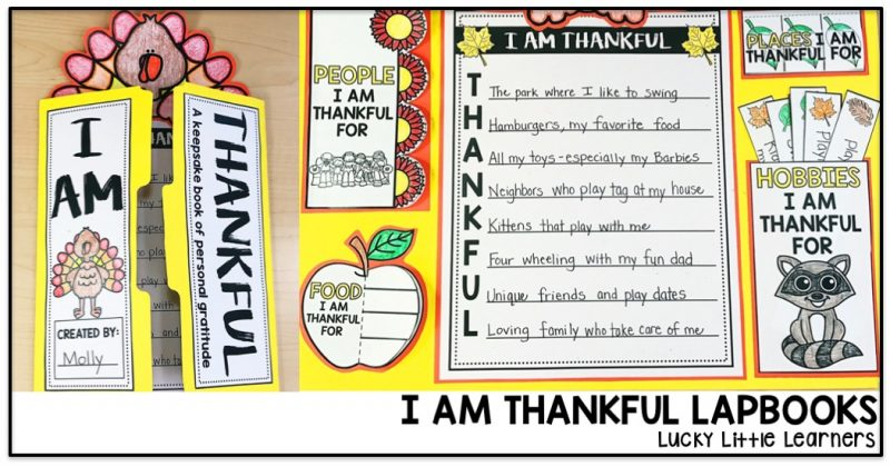I Am Thankful Lapbook