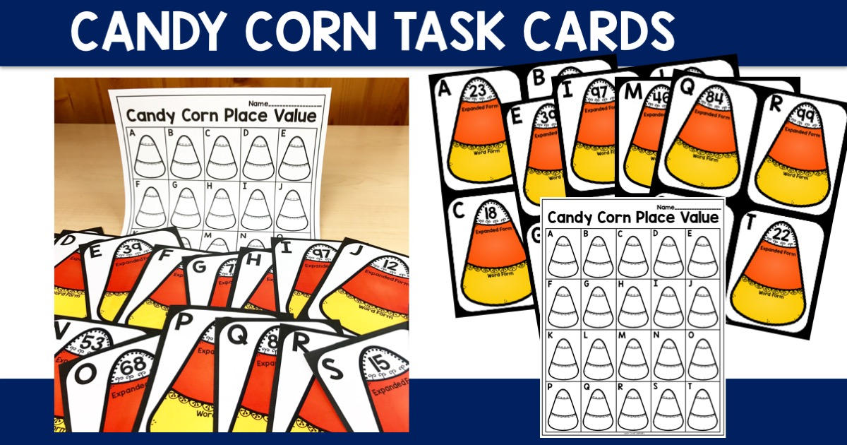 Candy Corn Task Cards