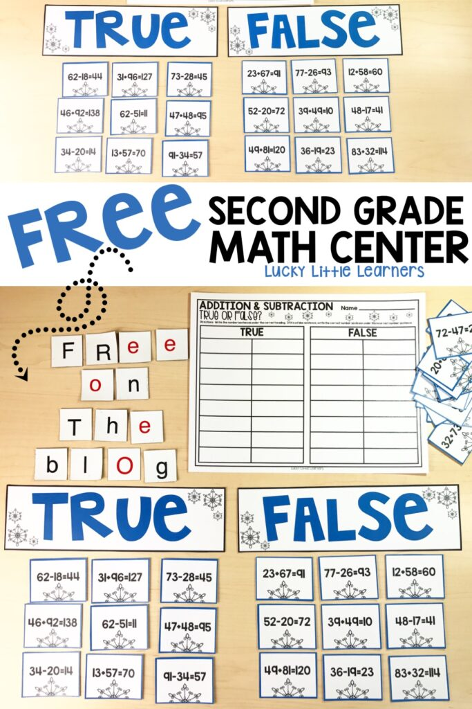 Free Second Grade Math Center