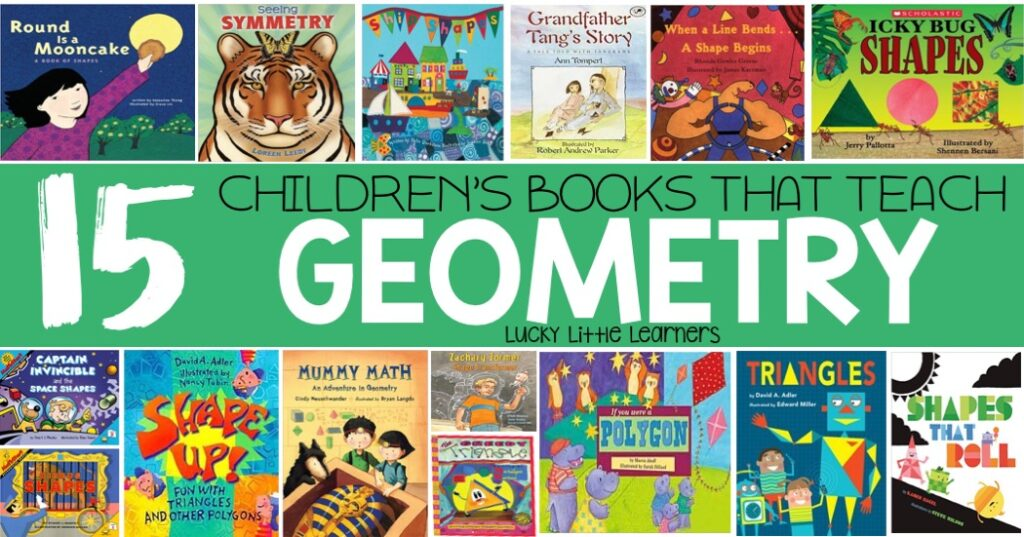 This collection of children's books allow the opportunity for children to learn more about 2D and 3D shapes, symmetry, patterns, and more!