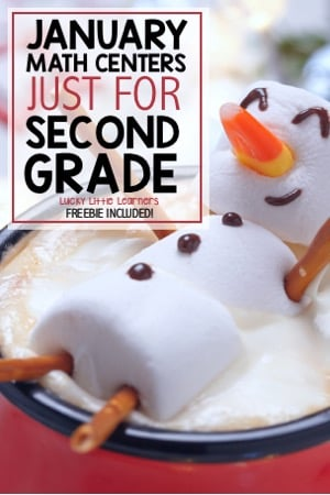 January Math Centers Just For Second Grade
