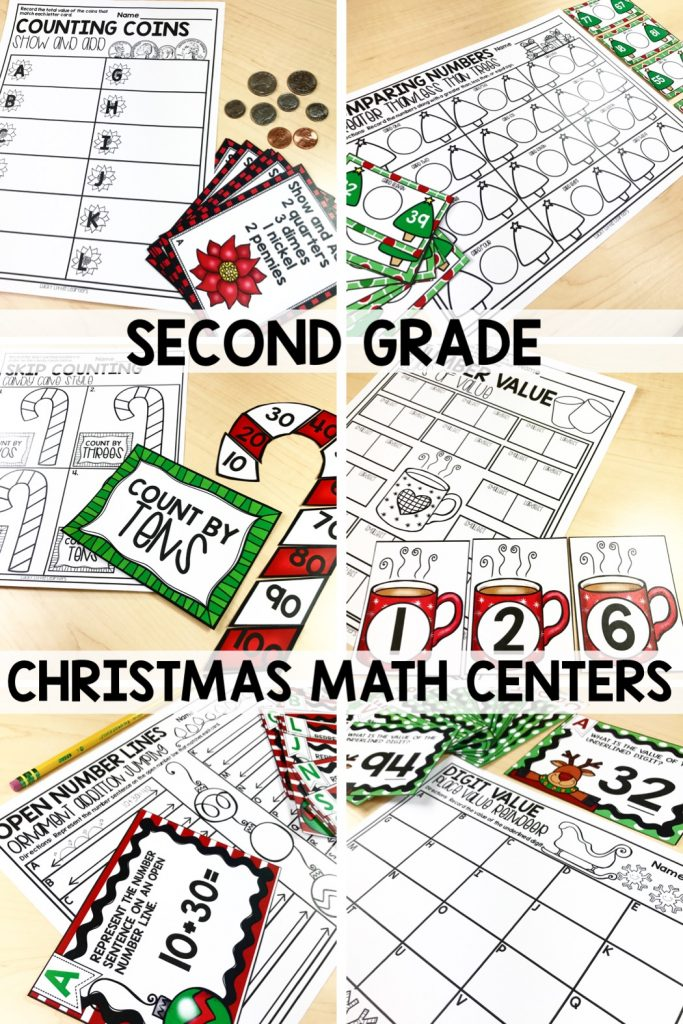 Keep your 2nd graders learning and engaged through the month of December with these 10 math centers.