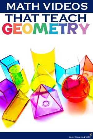 Kid-friendly math videos that teach geometry...this post has tons of geometry activities and freebies that you can use today with your 1st grade and 2nd grade students! #1stgrade #2ndgrade #math #geometry #mathvideos