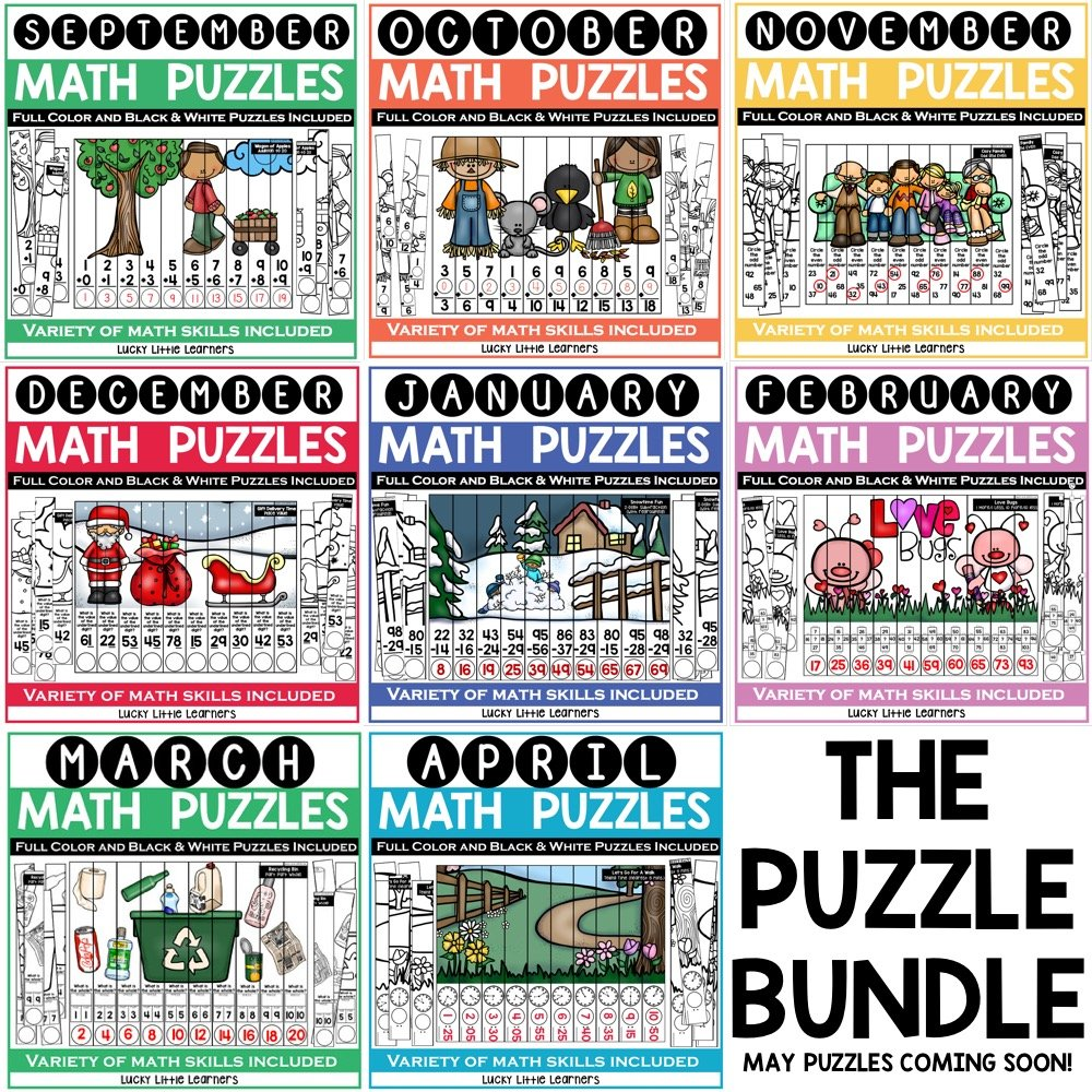 Math puzzles for the entire year