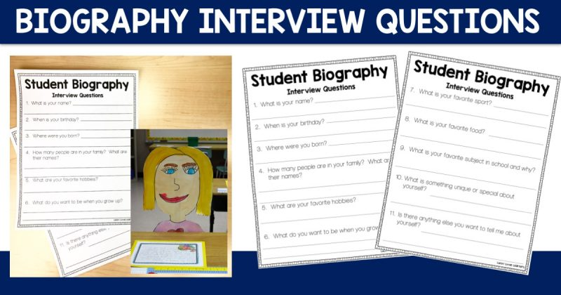 Student Biography Interview Questions