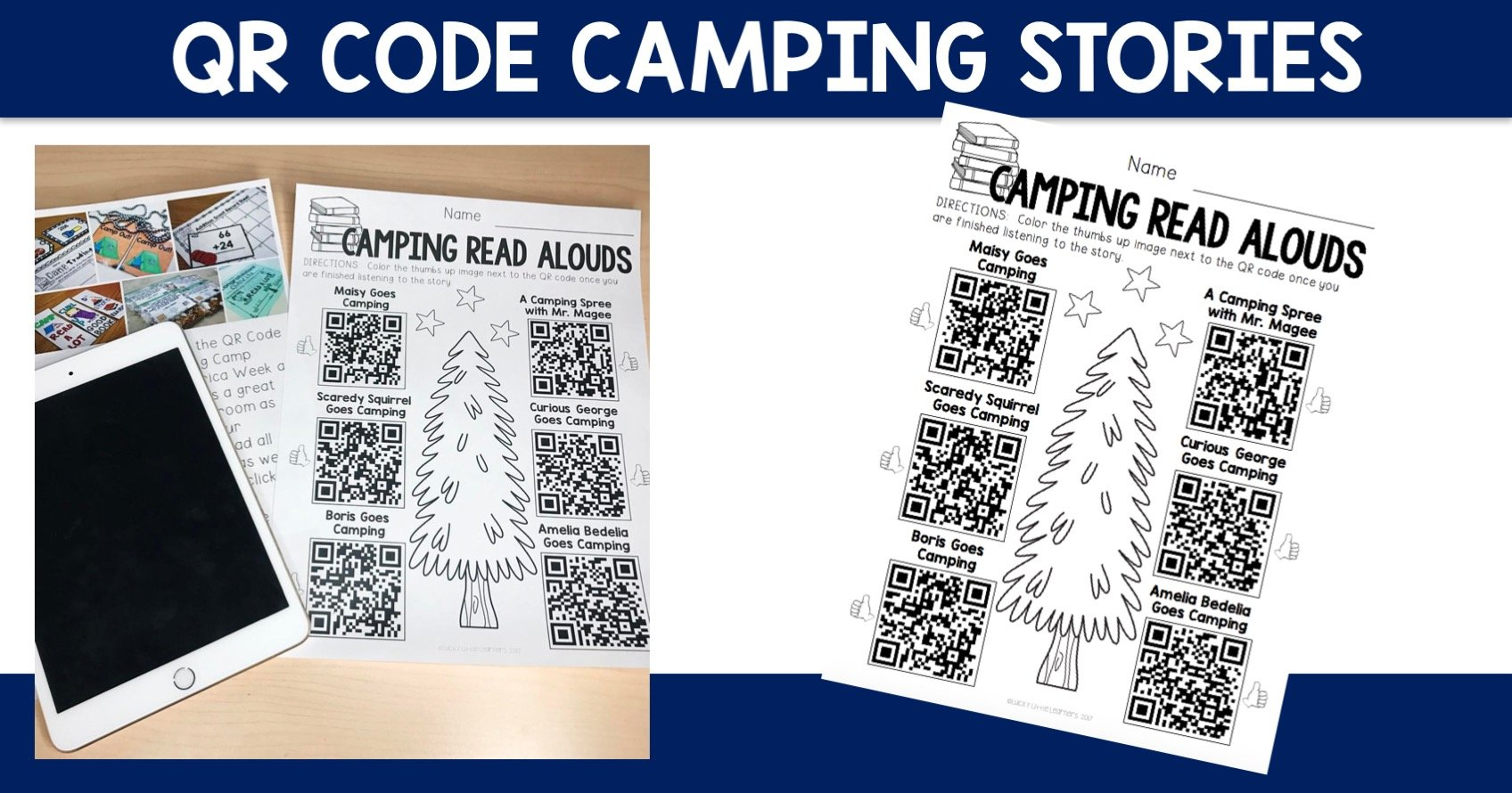 QR Code Camping Stories - Lucky Little Learners