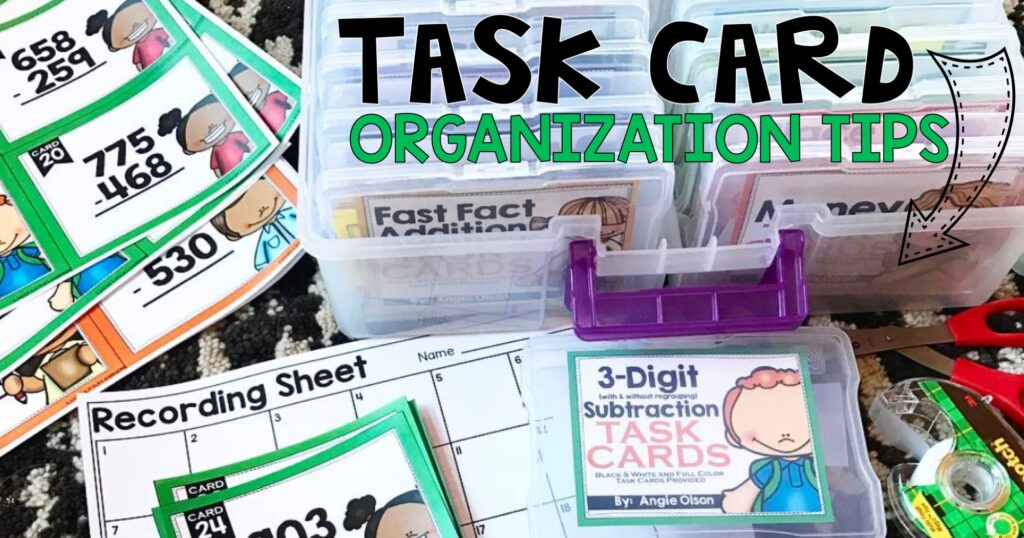Task Card Organization Tips