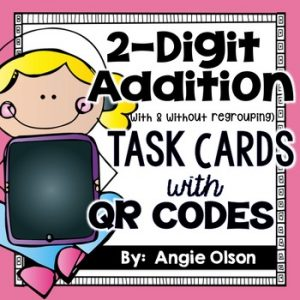 2-Digit Addition QR Code Task Cards-1