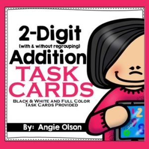 2-Digit Addition with Regrouping Task Cards-1