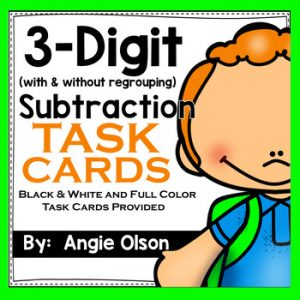 3-Digit Subtraction Task Cards