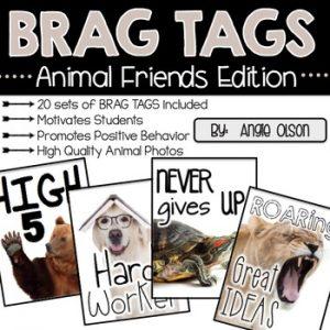 BRAG TAGS (Animal Friends Edition)-1
