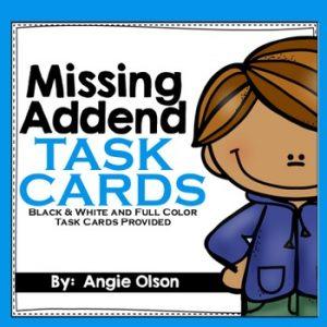 Missing Addend Task Cards-1