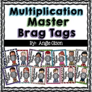 Multiplication Fact Master Brag Tags-1