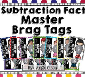 Subtraction Fact Master Brag Tags-1