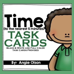 Time to the Nearest 5 Minutes Task Cards-1