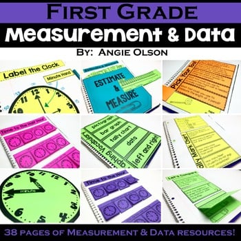 1st Grade Math Notebook Measurement Lucky Little Learners