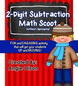 2-Digit Subtraction (without regrouping) Task Cards-1