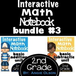 Addition & Subtraction Second Grade Math Notebook Bundle-1
