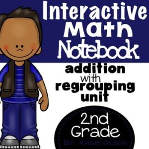 Addition with Regrouping Second Grade Math Notebook-1