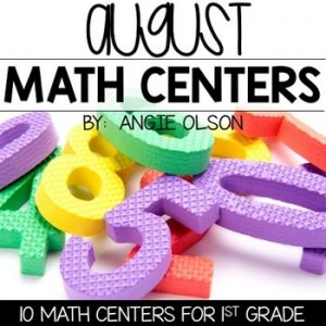 August Math Centers & Activities for 1st Grade-1