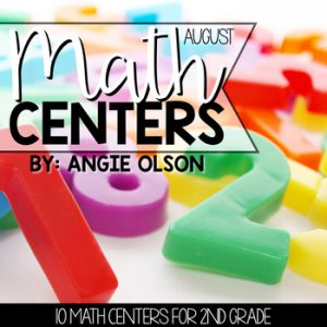 August Math Centers and Activities for 2nd Grade-1
